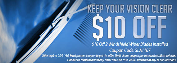 Wiper Blade Coupon in Belleville, ON and Cornwall, ON
